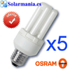 Pack 5 lamparas Osram Dulux intelligent longlife 5w